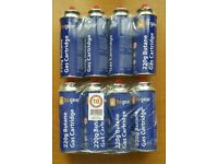 8 cans camping gas butane 220g canister bottle campingaz
