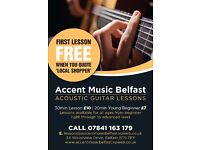 Accent Music Belfast - Acoustic Guitar Lessons - Dundonald/Castlereagh