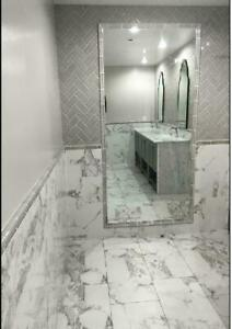 ****  Polished Porcelain and Ceramic Tile styles of Marble, Concrete, Travertine, Wood look, at affordable pricing ****