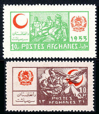 Used, Afghanistan RA16-RA17, MNH. Postal Tax Stamps.Red Crescent.Wounded Soldiers,1953 for sale  Shipping to United Kingdom