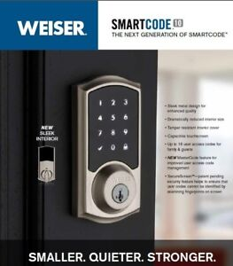 NEW WEISER SMARTCODE 10 SATIN NICKEL TOUCHSCREEN ELECTRONIC DEAD