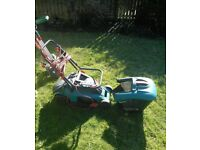 Bosch lawnmower and two strimmers for £30. Electric
