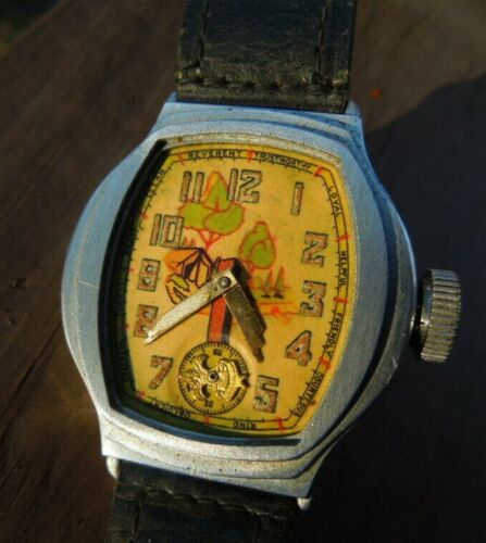 Original Boy Scout Official 1930s Ingersoll Wrist Watch W/ Be Prepared Hands