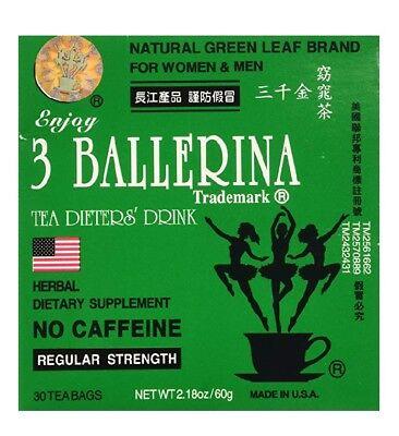 Ballerina Bag (Authentic 3 Ballerina Dieters Drink Regular Strength Diet Slim Tea 30 Tea)