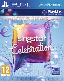 **SEALED** SINGSTAR CELEBRATION PS4 GAME BRAND NEW FOR PLAYSTATION 4