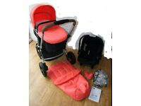 Complete travel system pushchair
