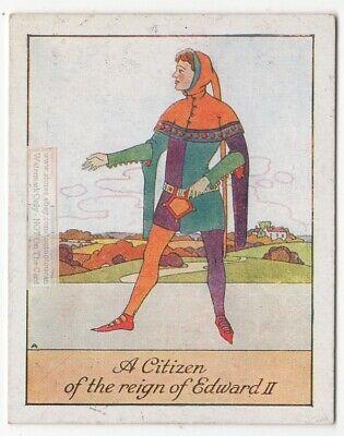 English Male Dress Clothing Style King Edward II Era England 1920s Trade Card