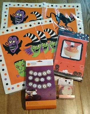 Martha Stewart Halloween Treat Boxes (Halloween 4 Placemats, Martha Stewart Cupcake Wraps & Garland, Treat Boxes)
