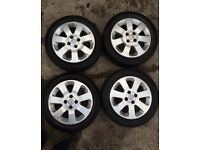 "Vauxhall Corsa C Sxi 15 "" Alloy Wheels & Premium Tyres 185 55 R15 82V / Also Fits 195 55 15 4 X 100"