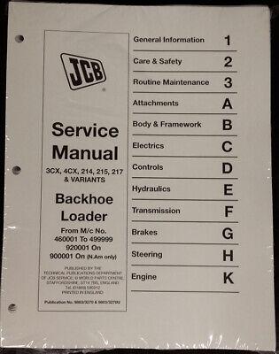 Jcb 3cx 4cx 214 214e 215 217 Service Repair Shop Manual - Part 98033270