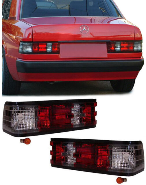 CRYSTAL CLEAR REAR BACK LIGHTS FOR MERCEDES 190E 190 W201 MODEL NICE GIFT