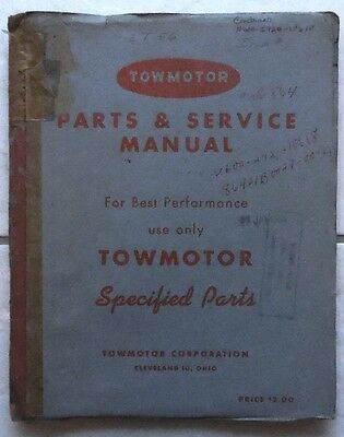 Towmotor Forklift Parts Service Manual Models Lt50 Lt56