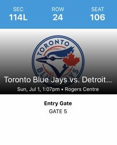 Canada Day Blue Jays Tickets For Sale - 2 Tickets, Section 114L