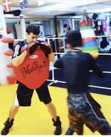 One on one boxing personal training.