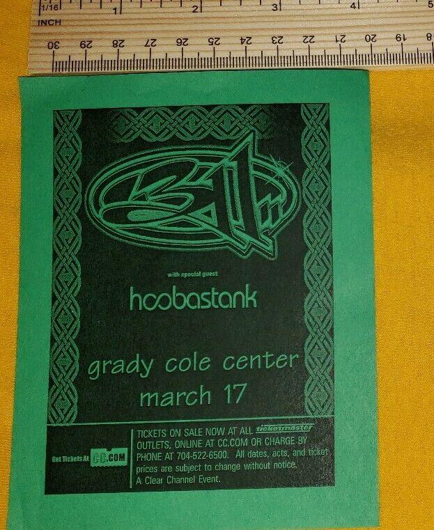 311 HOOBASTANK concert hand flyer charlotte nc free US shipping