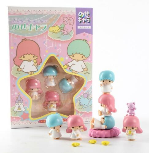 Cute Little Twin Stars Figures Play Toy Doll Cake Toppers Set Collective Gifts