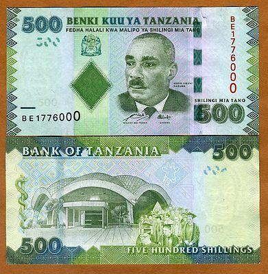 Tanzania, 500 shillings, 2010 (2011) P-40, UNC