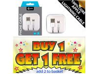 BUY 1 GET 1 FREE. Genuine Core Apple lightning usb data cable for iPhone 8.7,6,5 & 7 Plus lead
