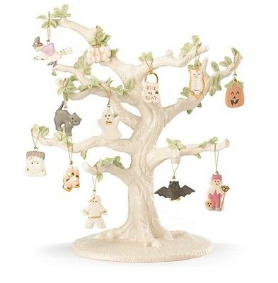 Lenox Halloween Tree Ornaments (Lenox Halloween Trick Or Treat 12 Miniature Tree Ornaments New In Box No)