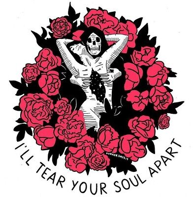 Goth Punk Skeleton Grim Reaper Tear Apart Soul Dark Love Toxic Divorce Sticker - Punk Skeleton