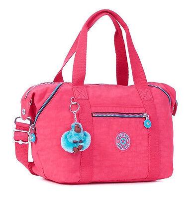 NWT Kipling Art U Crossbody Kipling Tote Bag Satchel Vibrant Pink Medium