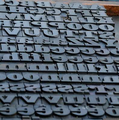Letterpress Wood Printing Blocks 182pcs 1.06 Tall Wooden Type Woodtype Alphabet