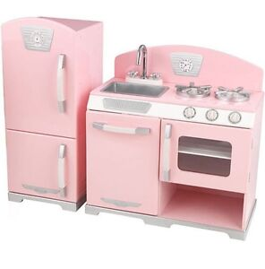 Pink kidkraft retro kitchen