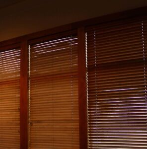 Custom Wood Finished Blinds