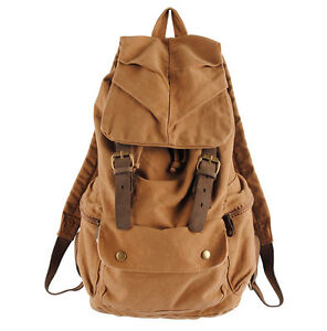 Retro-Vintage-Canvas-Backpack-Travel-Sport-Rucksack-Satchel-School-Hiking-Bag