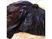 Stunning genuine leather Gucci jacket