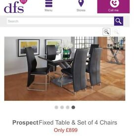 DFS Dining Table Chairs and Coffee table