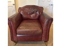 Thomas Lloyd leather arm chair