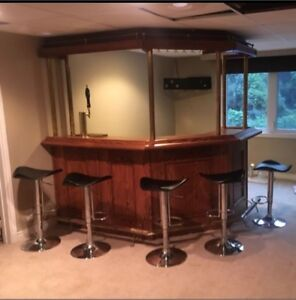 Complete Home Bar with draft tower & keg system