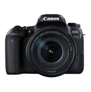 Brand new - Canon EOS 77D DSLR Camera -18-135mm f/3.5-5.6 IS USM