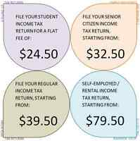 Income Tax Return services - 2015 or prior years