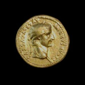 Ancient ROMAN GOLD Aureus COIN EMPEROR TIBERIUS 14-37 AD AUTHENTIC
