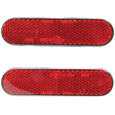 RYDE SELF ADHESIVE REFLECTORS STICK ON MOT SCOOTER/MOTORCYCLE/BIKE NUMBER PLATE