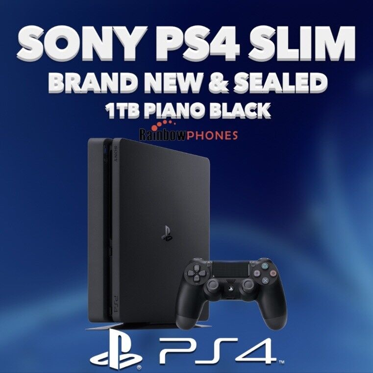 SONY PS4 • Brand New • 1TB • Piano Black • 1 Controller