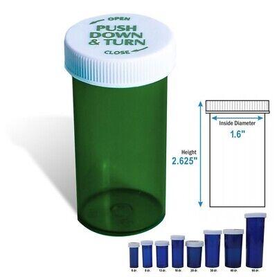 20 Dram Green Prescription Vials Safety Cap Pill Vials 25pack