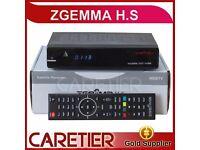 Original Zgemma HS Single Tuner Dual Core Satellite Receiver DVB-S2 Linux FTA