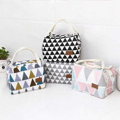 Portable Thermal Insulated Lunch Box Tote Cooler Bag Bento Pouch Lunch Container