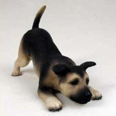 German Shepherd Puppy Figurine (GERMAN SHEPHERD PUPPY DOG Figurine Statue Hand Painted Resin Gift Pet Lovers )