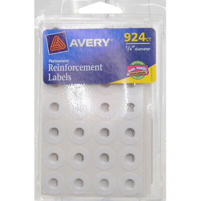Avery Reinforcement Labels Rounds White 924ct Avery Label Round 14 New 6755
