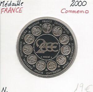 MEDALLA-Conmemorativa-EUROPA-Marianne-Prueba-Calidad-NUEVOS-2000
