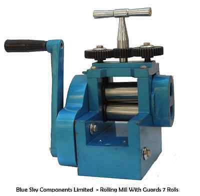 Jewellers Mini Rolling Mill with 7 Rolls 3 Inch Roll Rolling Mill for Jewellery