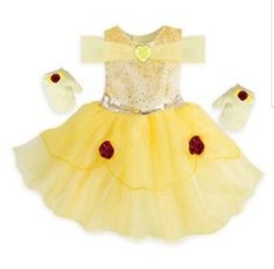 Baby Beast Costume ( Baby Belle Costume Dress & Gloves Beauty & The Beast Disney Store Girl)