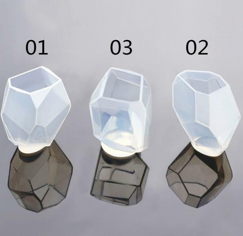 New Silicone DIY Crystal Gem Mold Resin Jewelry Pendant