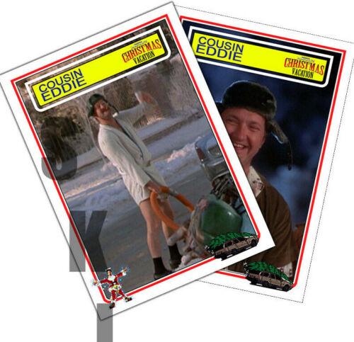 2 STCC Cousin Eddie Chrismas Vacation Randy Quaid Trading Cards 2 different