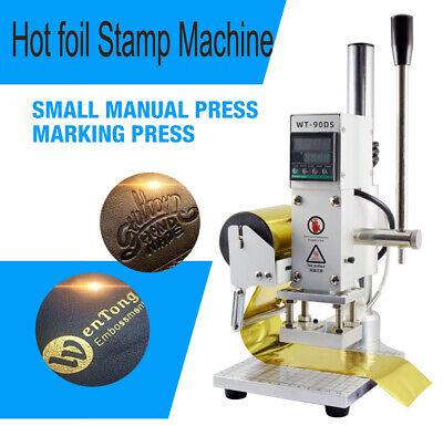 Leather Pu Hot Foil Stamp Machine Paper Wood Heat Press Machine Pvc Logo Brand