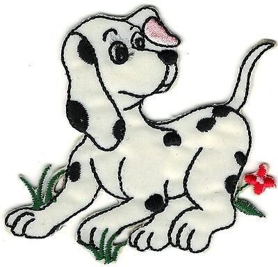 (Cartoon Dalmatian on grass Embroidery Patch)